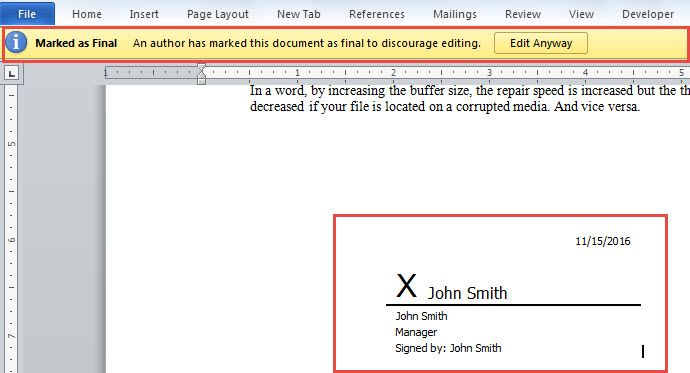 2 Methods To Add Digital Signature To Your Word Document Digital Signature Words Digital