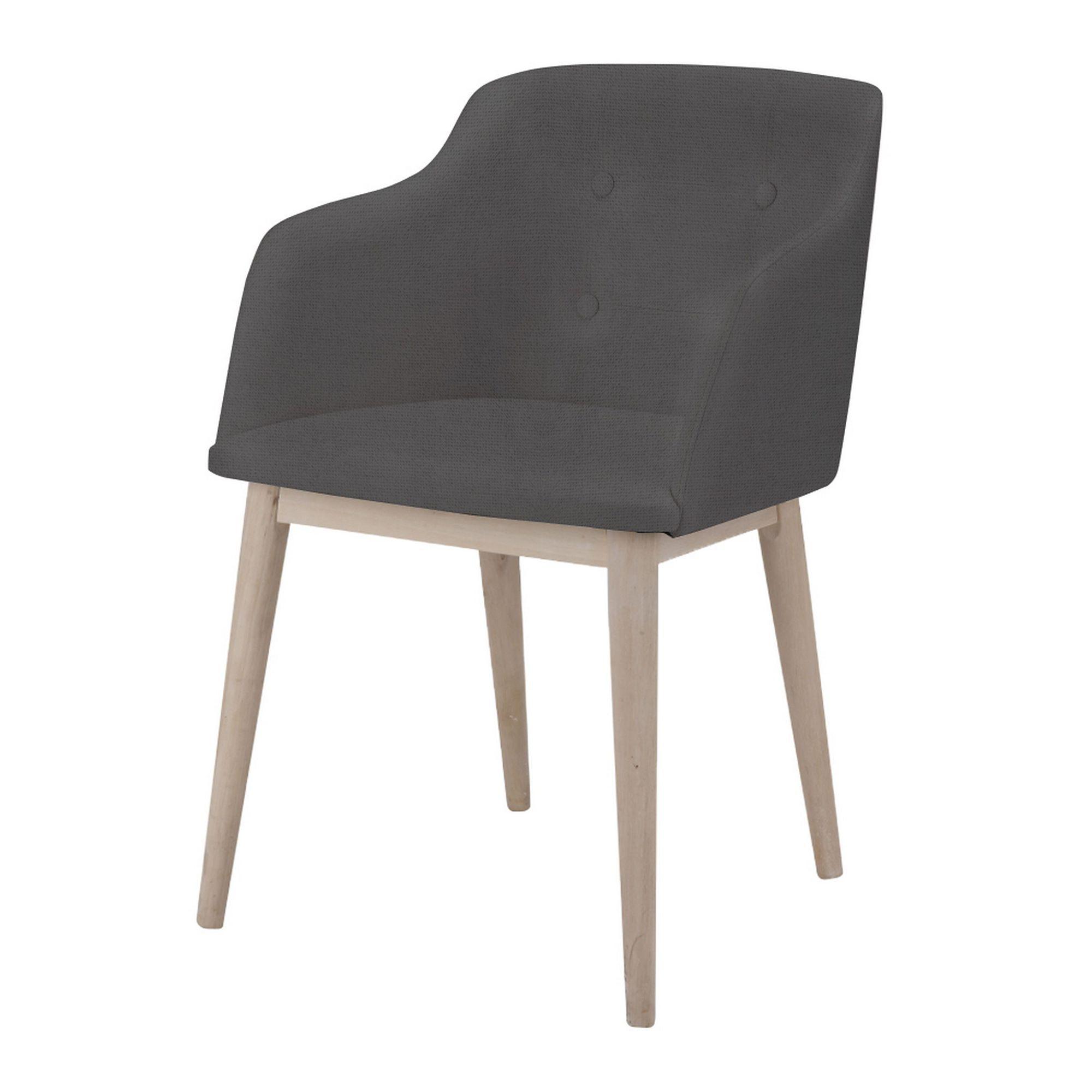 Chaise De Sejour Capitonnee Anthracite Cork Chaises Tables Et Chaises Salon Et Salle A Manger Par Piece Chaise De Sejour Mobilier De Salon Table Et Chaises