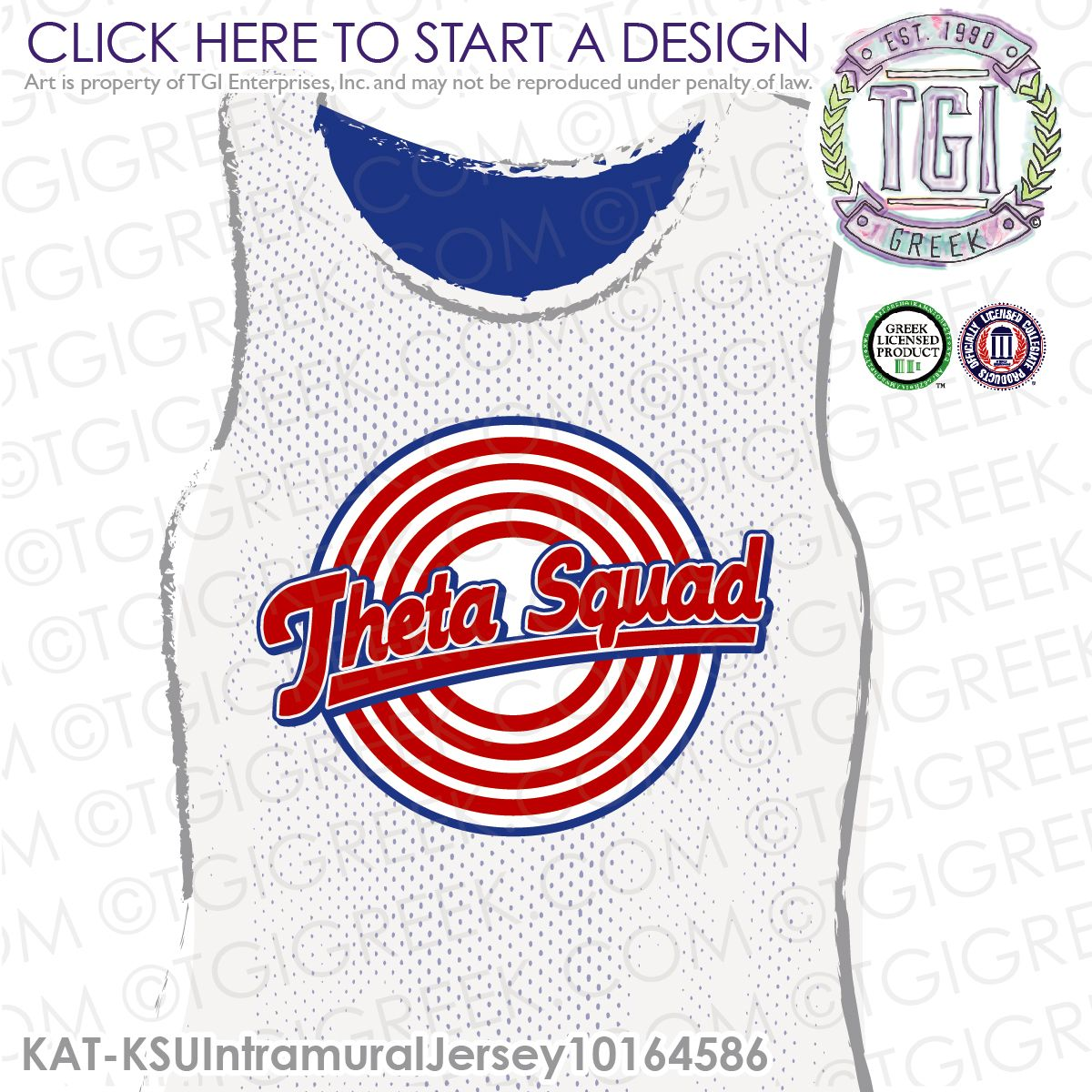 Kappa Alpha Theta | Theta | ΚΑΘ | Intramural | Athletics | Sisterhood | Intramural Tee | Intramural Jersey | TGI Greek | Greek Apparel | Custom Apparel | Sorority Tee Shirts| Sorority Tanks | Sorority T-shirts