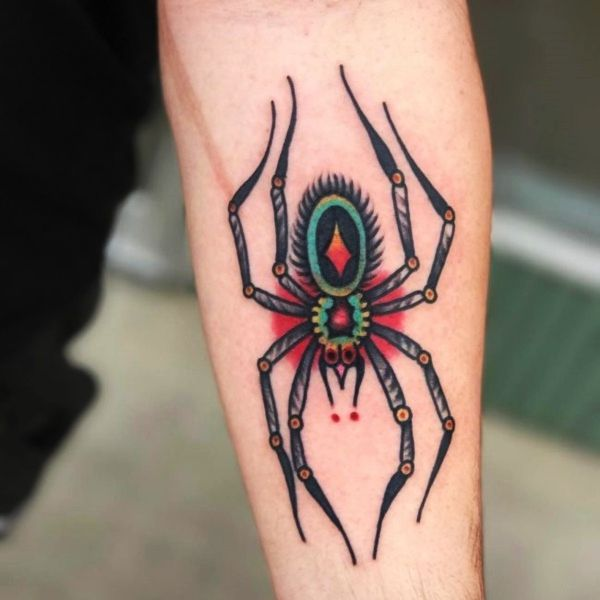 29ccad573 Top Cool & Scary 3D Spider Tattoos Designs For Men & Women | tattoo ...