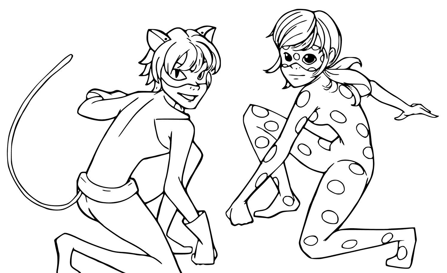 - Brilliant Photo Of Ladybug And Cat Noir Coloring Pages (With