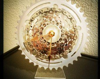 desk clock bike desk clock industrial decor by