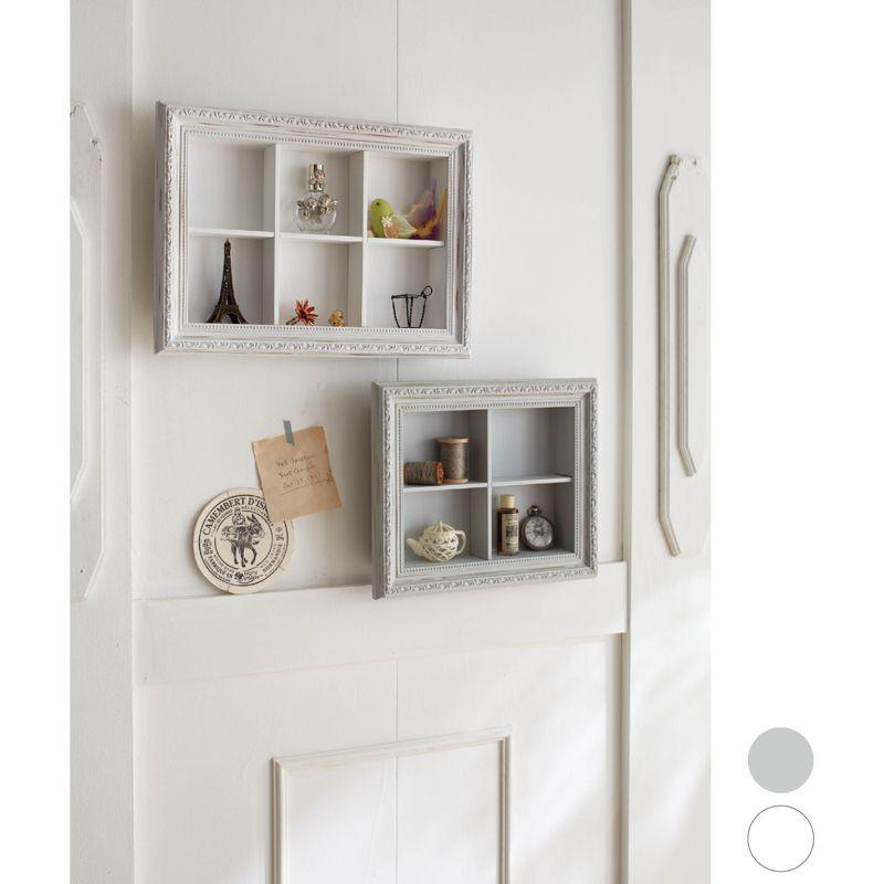 Shabby Chic white frame wall shelves from Romapri. | Shelving ...