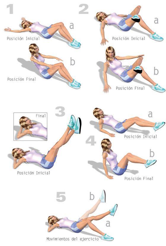 ejercicios para adelgazar cintura y el abdomen mujeres