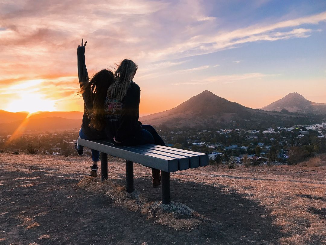 Watching The Sunset On Terrace Hill In San Luis Obispo California Outdoor Furniture