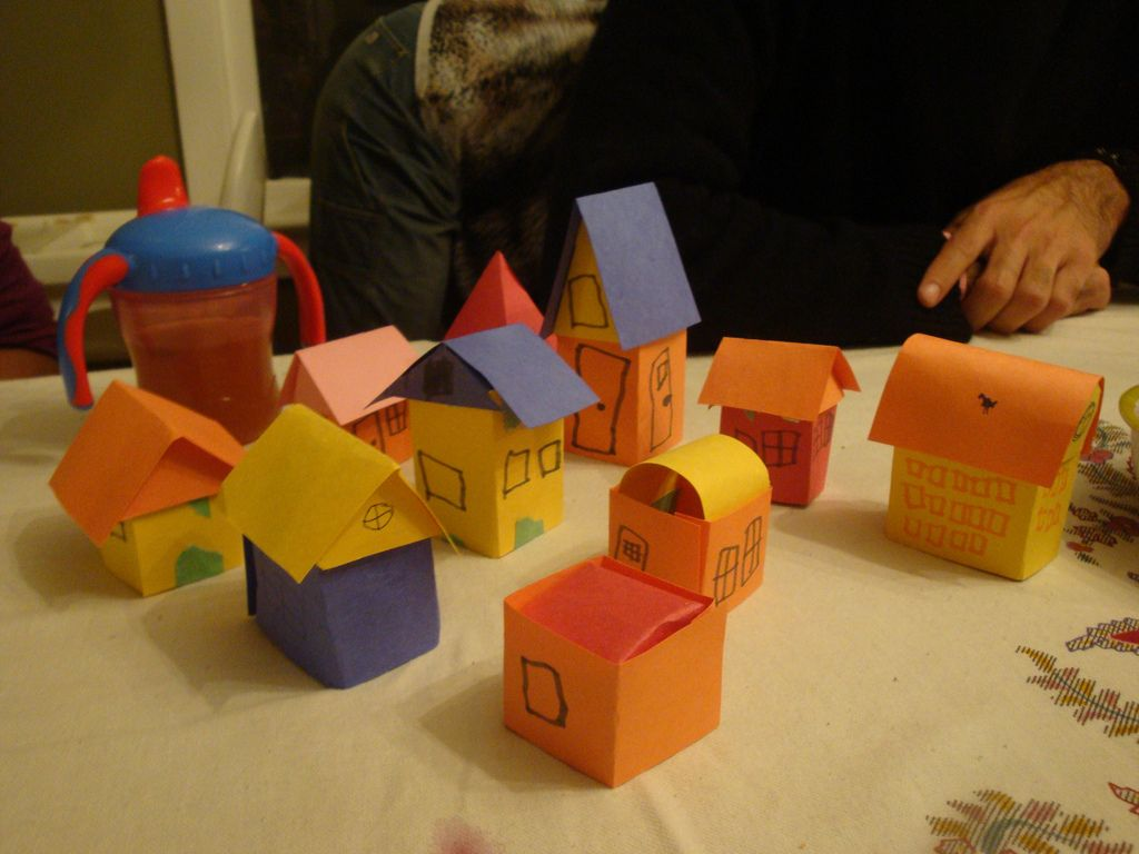 make a paper house | paper houses, craft and kid activities