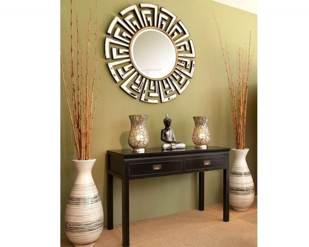 Entryway Design entryway design ideas:love the mirrors, table and the tall vases