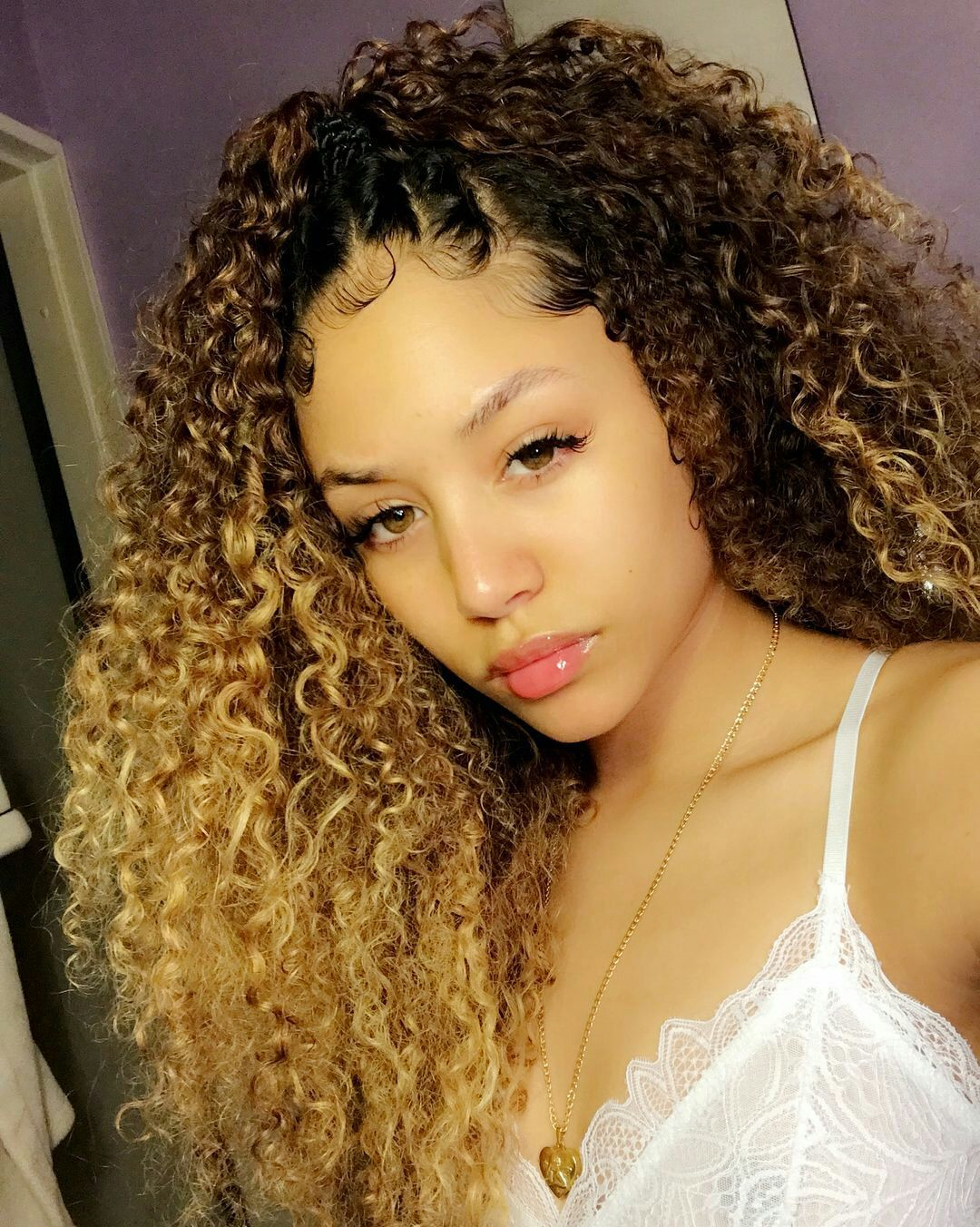 Lil Attitude A Nba Youngboy Story In 2019 Cute Girls Curly Hair