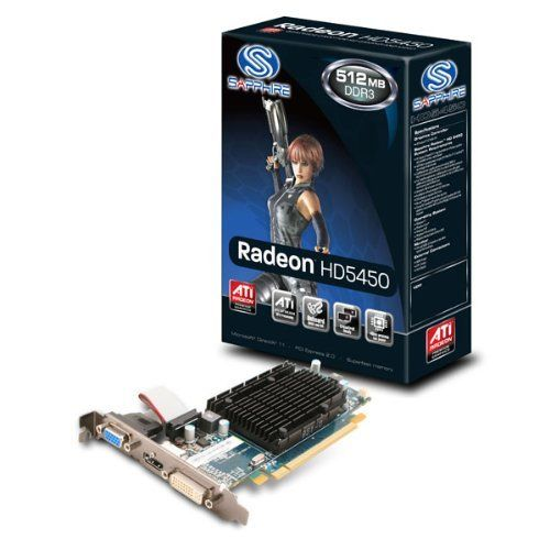 Sapphire 100291ddr3l Ati Radeon Hd5450 512mb Ddr3 Pci Express Video Card Hdmi Dvi I Vga Model 11166 01 20r Retail By Sapphire By Sapphire Technology 50 80