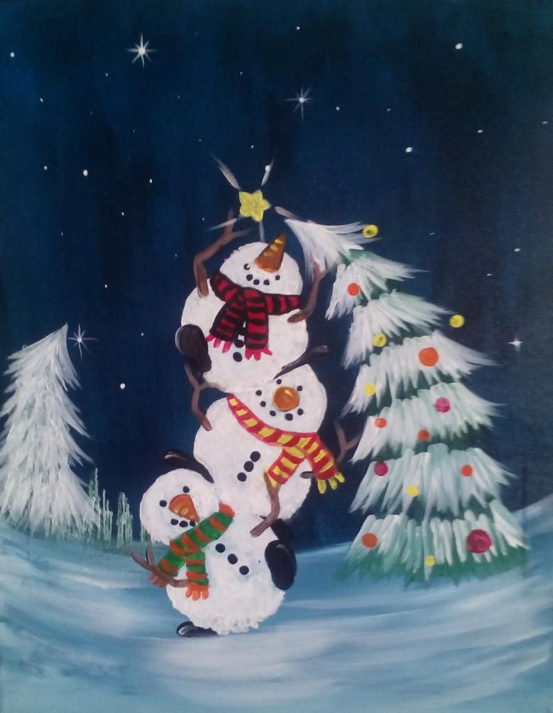 Let S Paint Tonight Christmas Canvas Christmas Paintings Christmas Paintings On Canvas