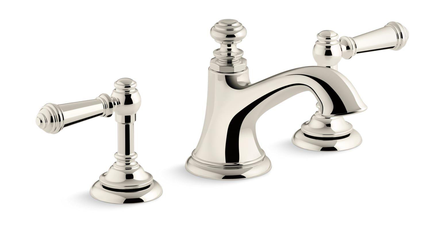 Kohler K 72759 4 Widespread Bathroom Faucet Faucet Polished Nickel