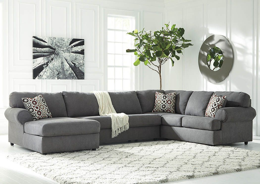 Jayceon Steel Extended Left Facing Chaise End Sectional : left facing chaise sectional sofa - Sectionals, Sofas & Couches