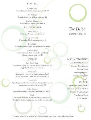 customize fine dining restaurant menu m pinterest menu