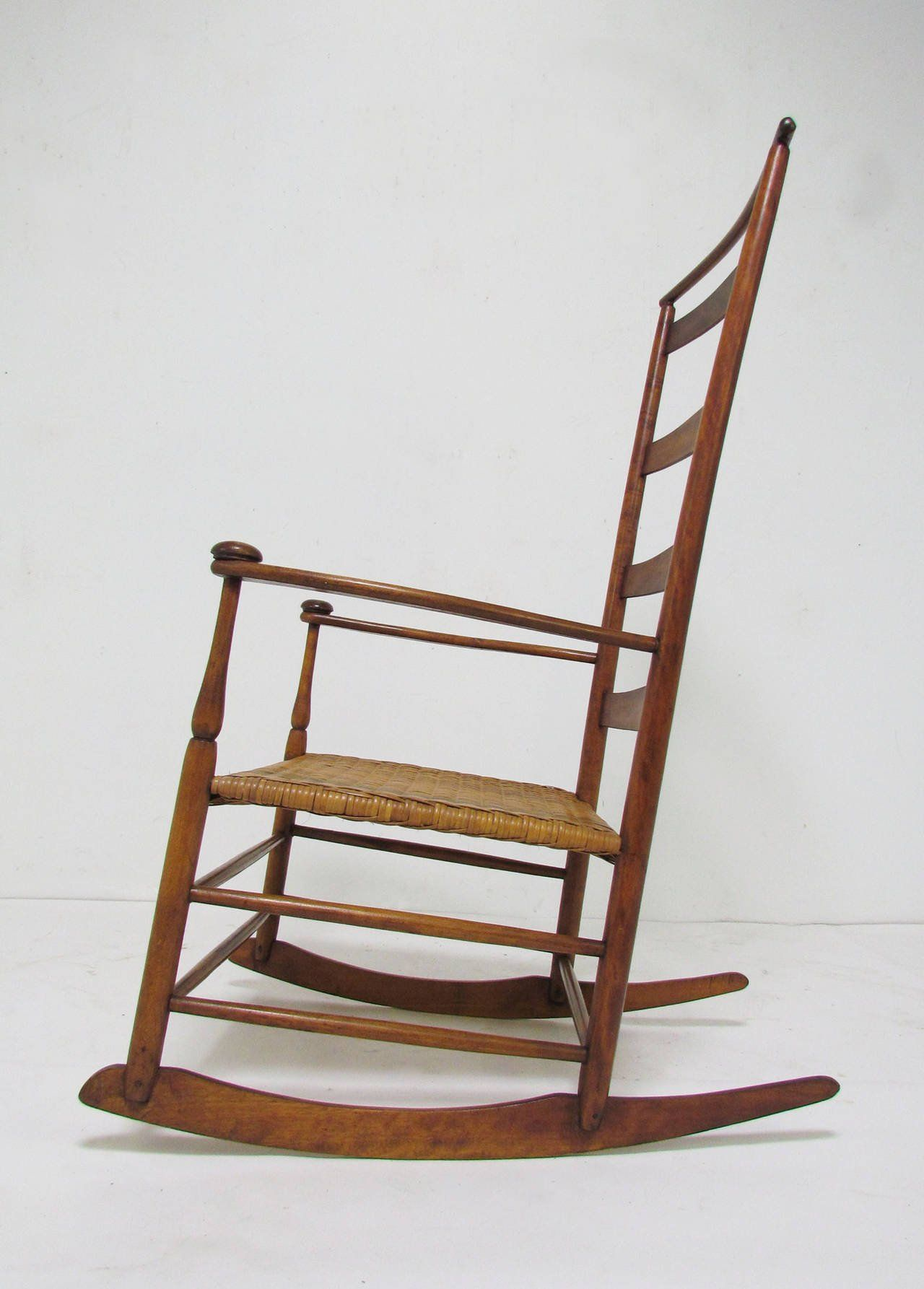 Antique Shaker No. 7 Rocking Chair with Shawl Bar 2 - Antique Shaker No. 7 Rocking Chair With Shawl Bar Shaker