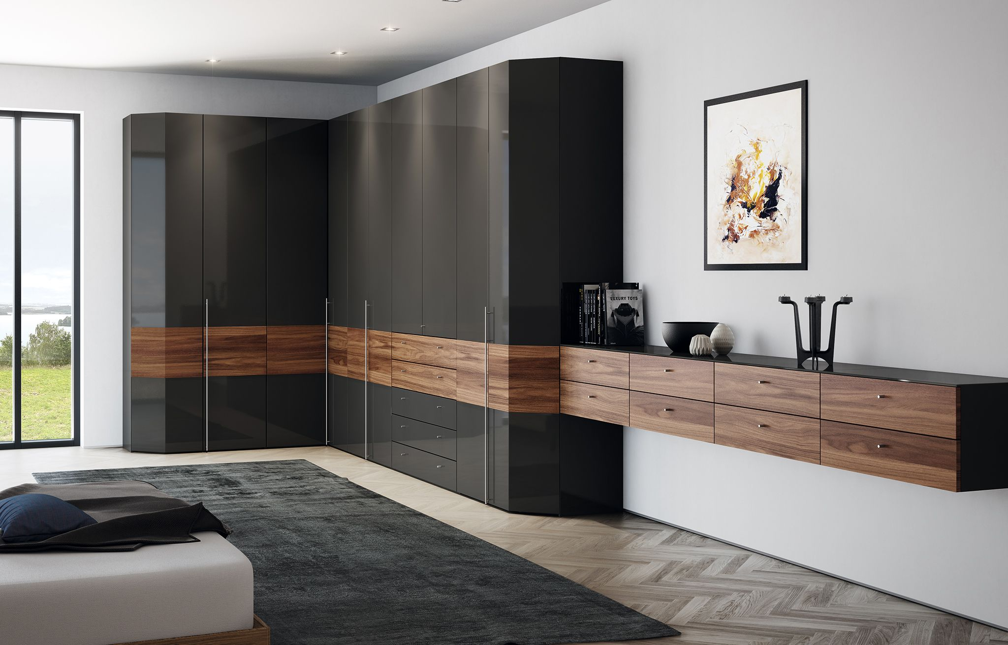 """While at IMM Cologne, we saw huelsta's latest additions to their """"Multi-Forma II"""" collection. Multi-Format II is an incredibly versatile wardrobe and walk-in closet system that can be personalized to meet your specific needs!"""