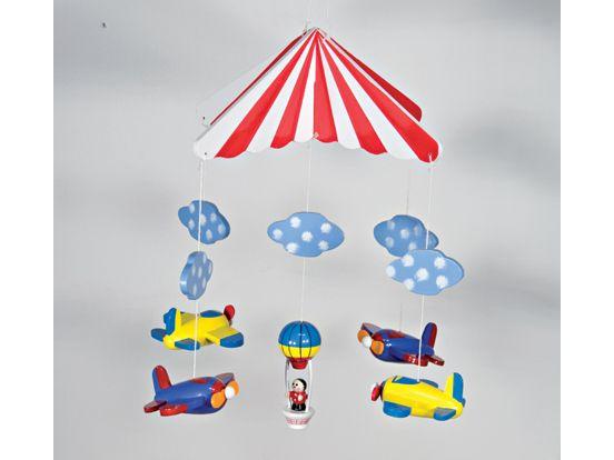 Uro med flyvemaskiner og luftballon.  www.nikenas.dk