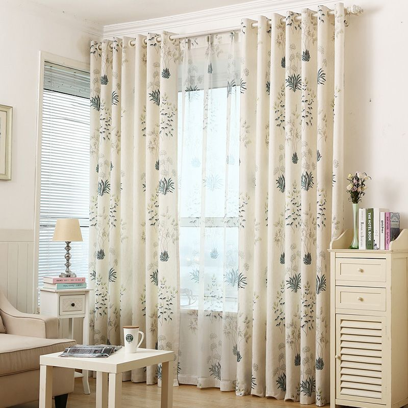 Byetee Cotton And Linen Printed Pastoral Shade Cloth Window Extraordinary Luxury Curtains For Living Room Design Decoration
