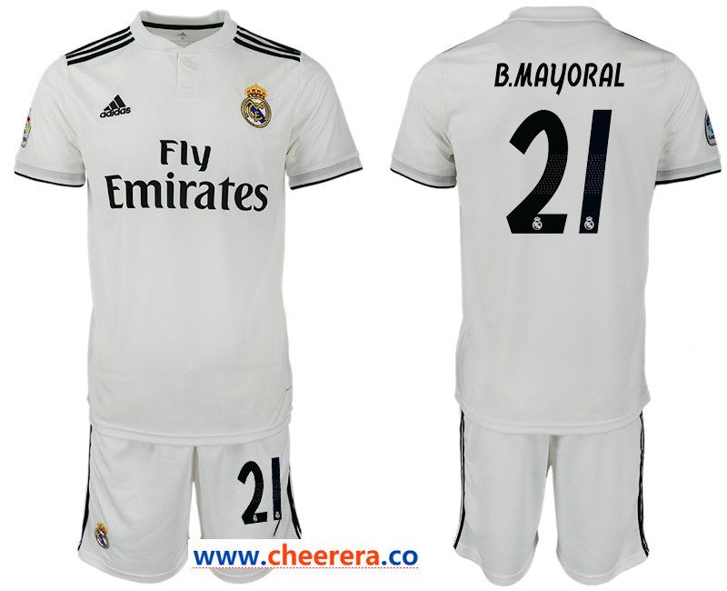 2018 19 Real Madrid 21 B Mayoral Home Soccer Jersey Soccer Jersey Jersey Jersey Shorts