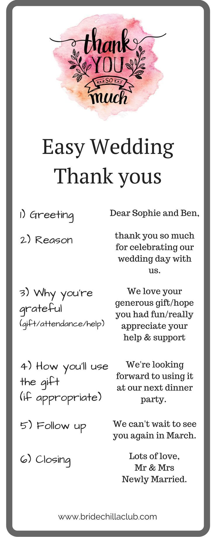 Stress Less Wedding Thank Yous Wedding Planning Wedding Tips Wedding Thank You