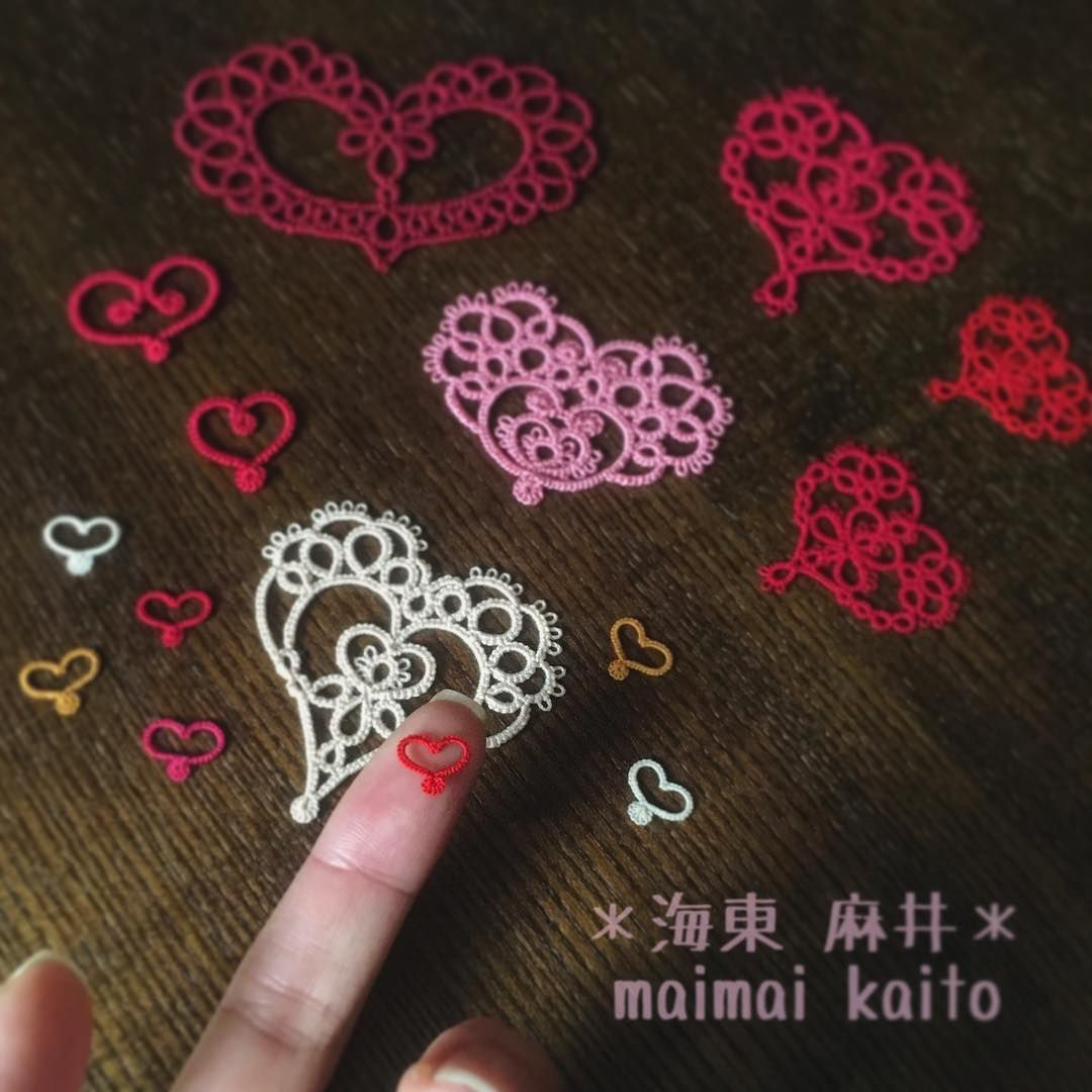 Those are my hearts ❤️✨ LOVE and PEACE #tatting #lace #original #orignaldesign…