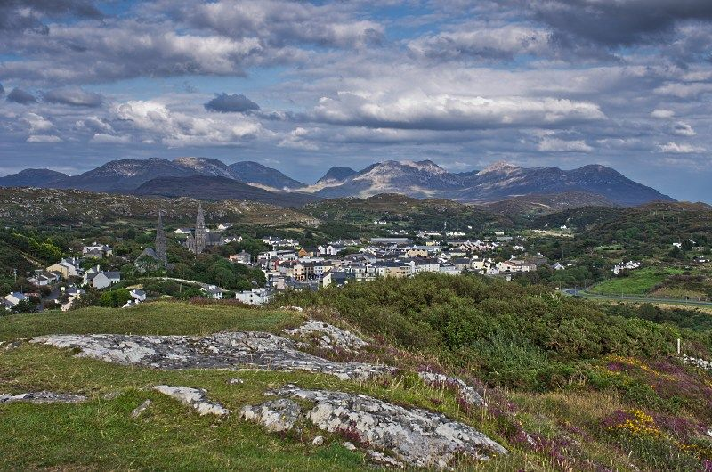 View from Clifden to the Twelve Bens