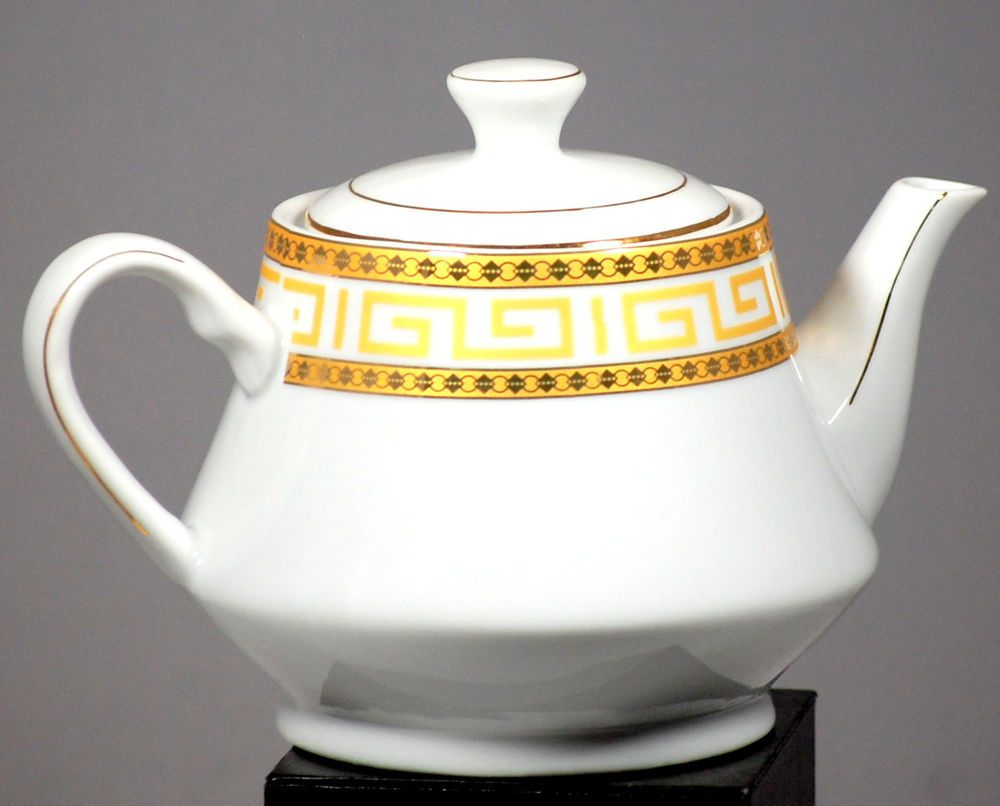 Casati Fine Porcelain Aramco Imports Made In Germany Gilt Teapot ...