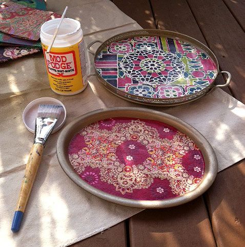 DIY Craft: Bohemian Inspired Trays For A Teen Girlu0027s Room