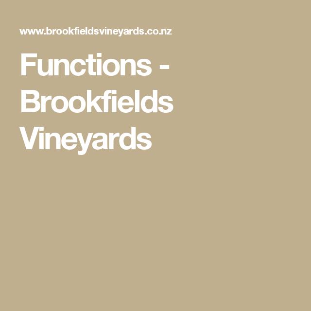 Functions - Brookfields Vineyards