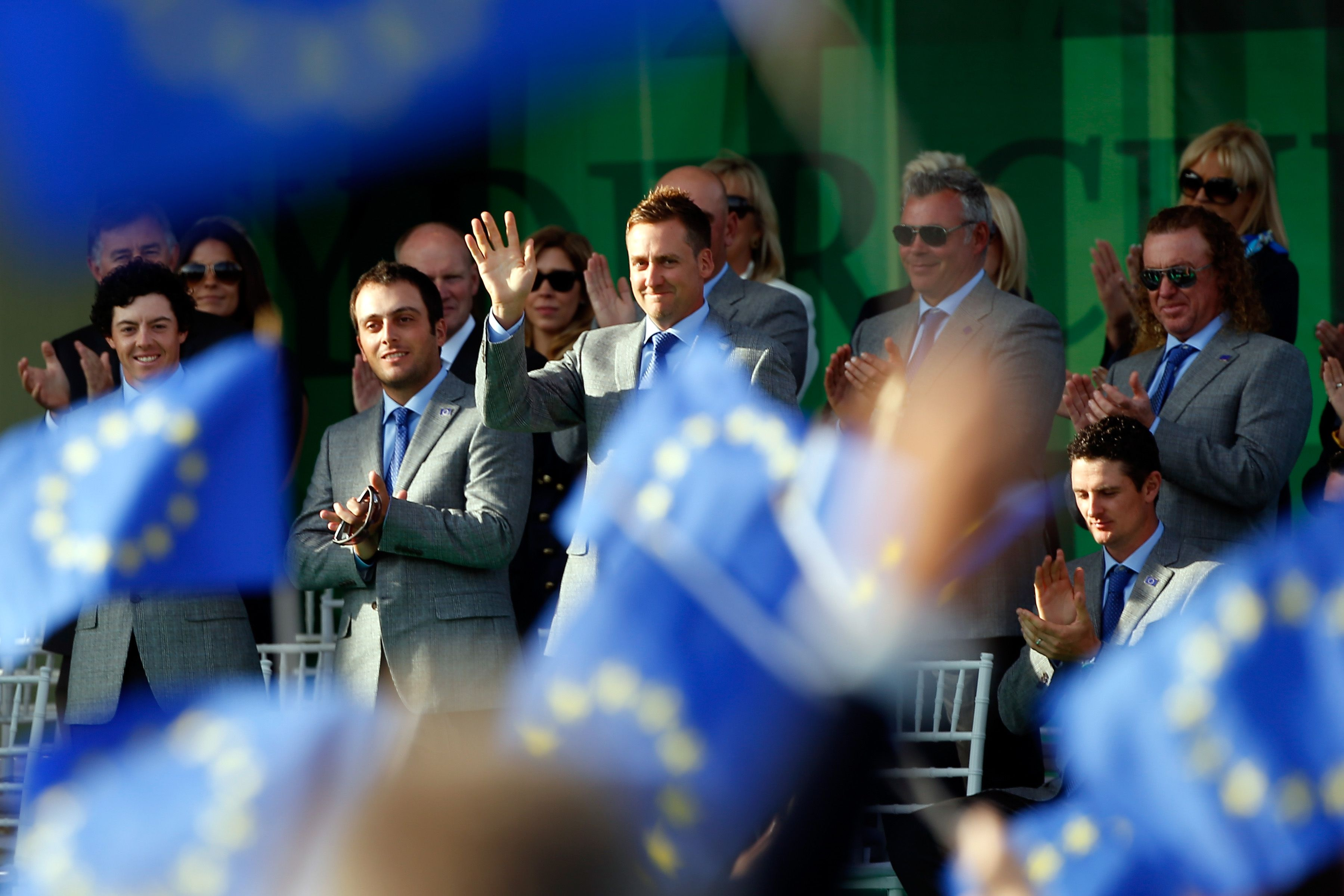 Ian Poulter at the Ryder Cup - Getty Images