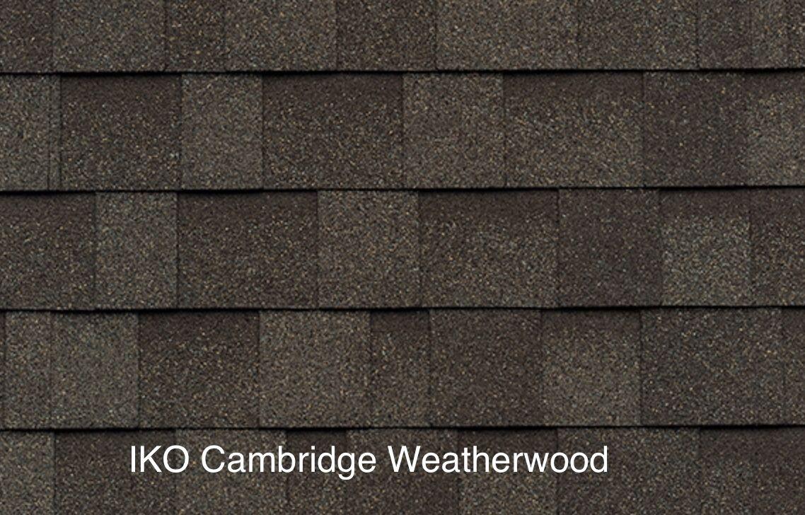Best Iko Cambridge Weatherwood House Exterior Roof Shingles 400 x 300