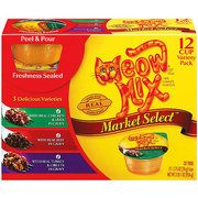 Meow Mix Market Select Beef & Poultry Wet Cat Food Variety Pack, 12Ct