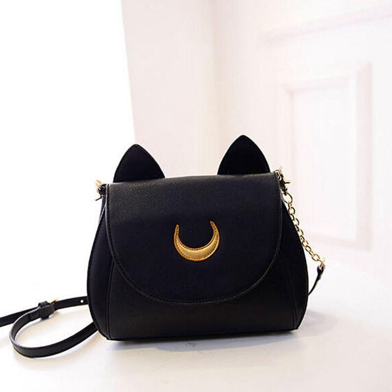 a42a20fa6b 2016 limitada de verão Sailor Moon saco bolsa das senhoras preto gato  branco Luna lua mulheres mensageiro Crossbody Bag YA40 67 em Sacos de ombro  de Bagagem ...
