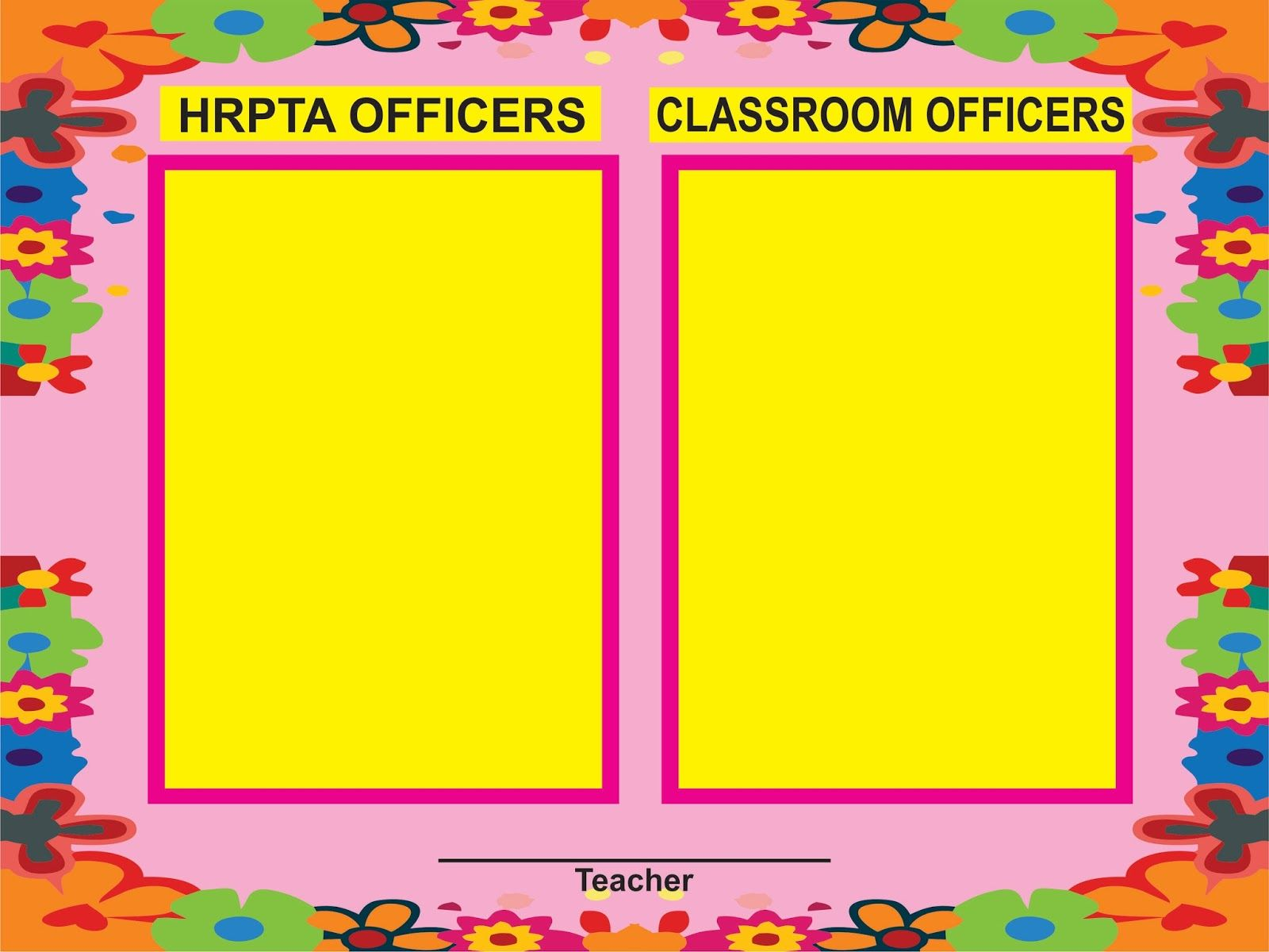 Image result for tarpaulin design for classroom officers | Wika