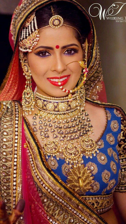 Rajasthani bridal look Bridal nose ring