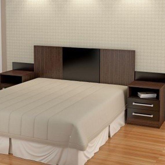 resultado de imagen para respaldo cama moderno con mesa de luz flotante