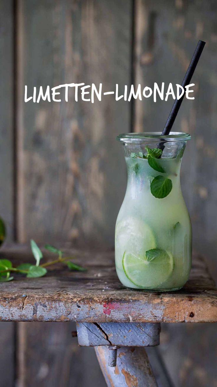 Hausgemachte Limetten-Limonade