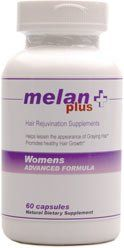 MelanPlus uses an ancient Chinese herbal compound (He Shou Wu) to promote natural melanin (pigment) production in the hair follicles, thus reducing the appearance of gray hair. MelanPlus is the ideal gray hair vitamin for Men with a specialized formula containing saw palmetto. There is simply no...