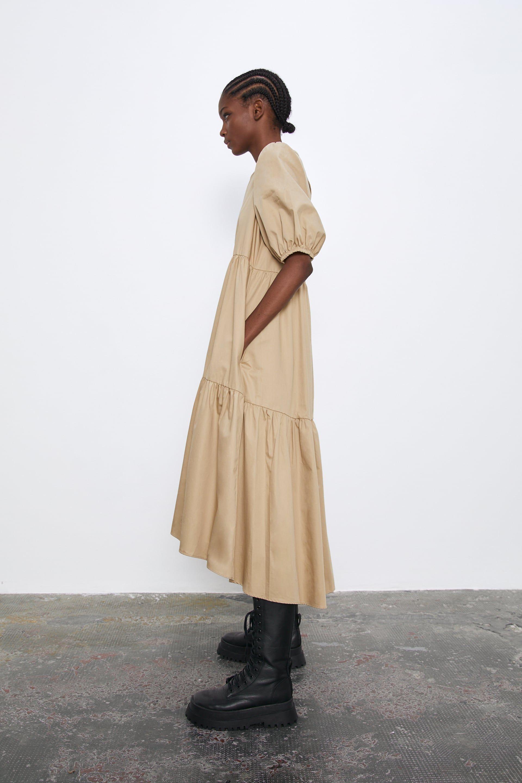 ASYMMETRIC POPLIN DRESS   View all DRESSES   JUMPSUITS TRF   ZARA ...