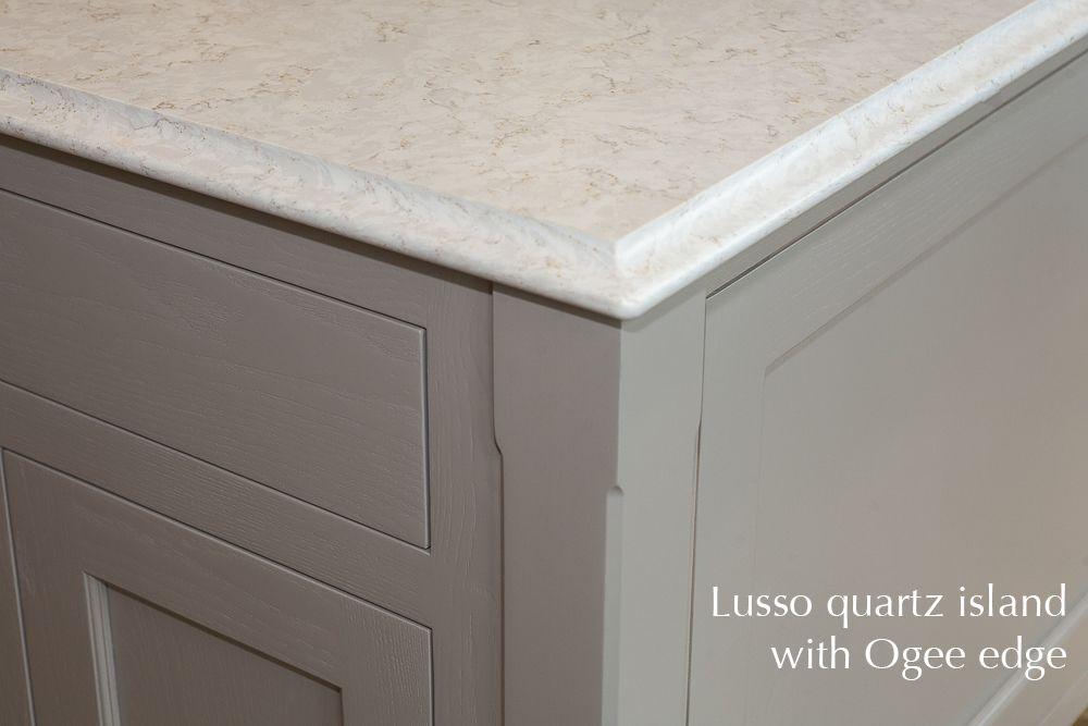 Lusso Quartz Kitchen Island Carlow Dublin Ogee Edge