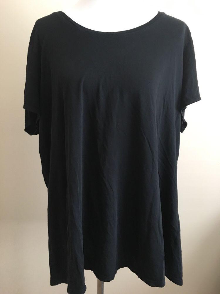 4c7e6e05485 J Jill Pure Jill Women s Scoop Neck Elliptical Tee Plus Sz 2X Black Knit  Top  JJill  TShirt  CasualWorkout