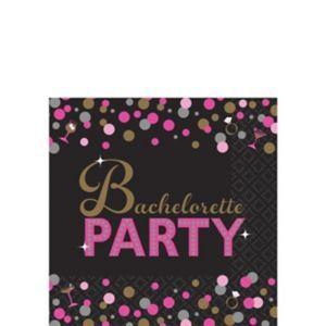 Metallic Bachelorette Party Beverage Napkins 16ct - Sassy Bride