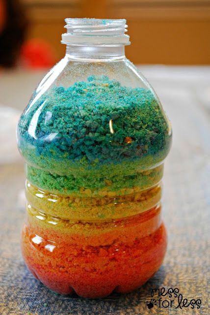 Crushed cereal rainbow bottle fun projects cereal and rainbows crushed cereal rainbow bottle ccuart Images