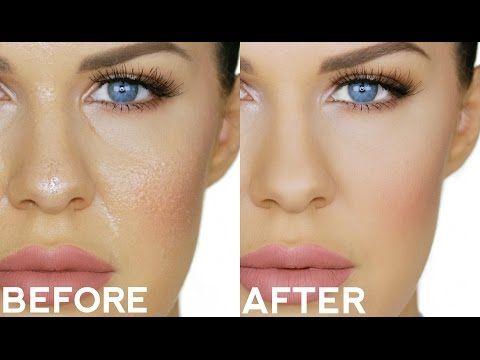 face shiny after foundation