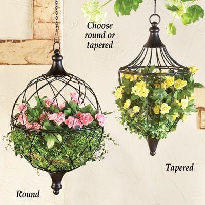 Elegant Hanging Wire Basket Planter Collections Etc Hanging Flower Pots Hanging Plants Outdoor Hanging Plants