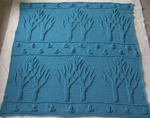 Tree of Life Afghan (Crochet) pattern by Lion Brand Yarn | Yarn and