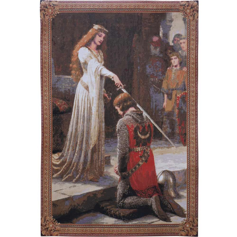 Knighting Ceremony Tapestry | Knights | Tapestry, Art