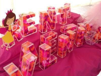 3d Acrylic Fillable Letters For Candy Buffet By