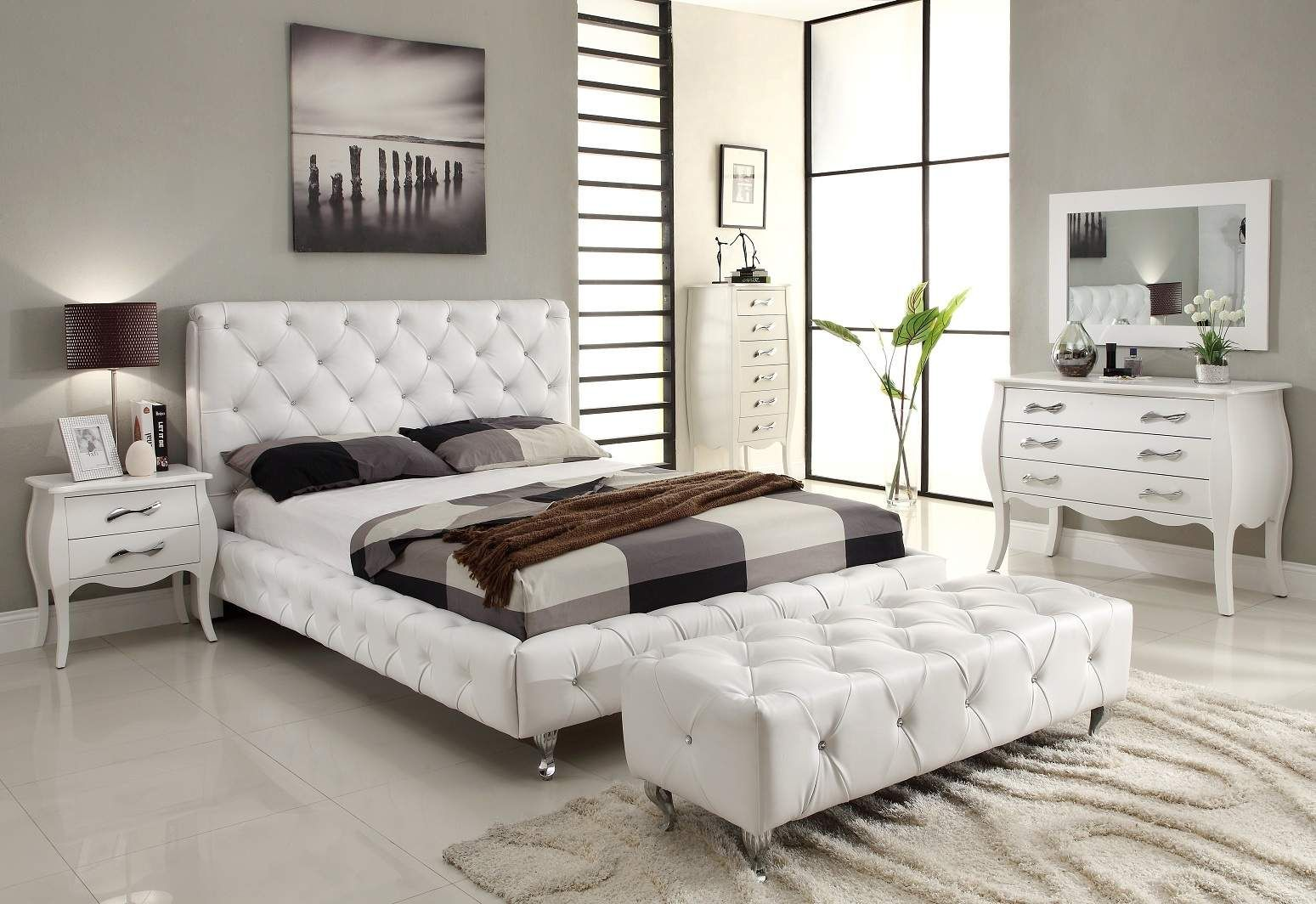 Get Inspired by the Latest Bedroom Trend White Furniture