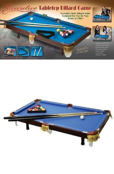 Tables 21213: Rmk Executive Tabletop Billiard Miniature Pool Table Indoor  Game Blue Color Nib