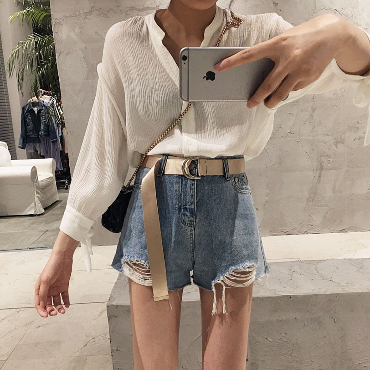 Casual High Waisted Shorts Outfits Korean Outfits Fashion